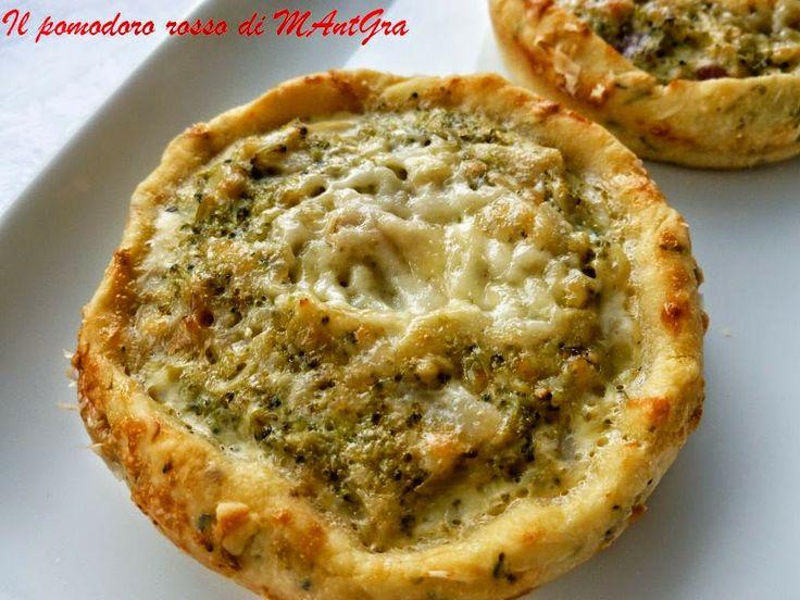 Il Pomodoro Rosso di MAntGra: Tortine di broccoletti, gorgonzola e pancetta