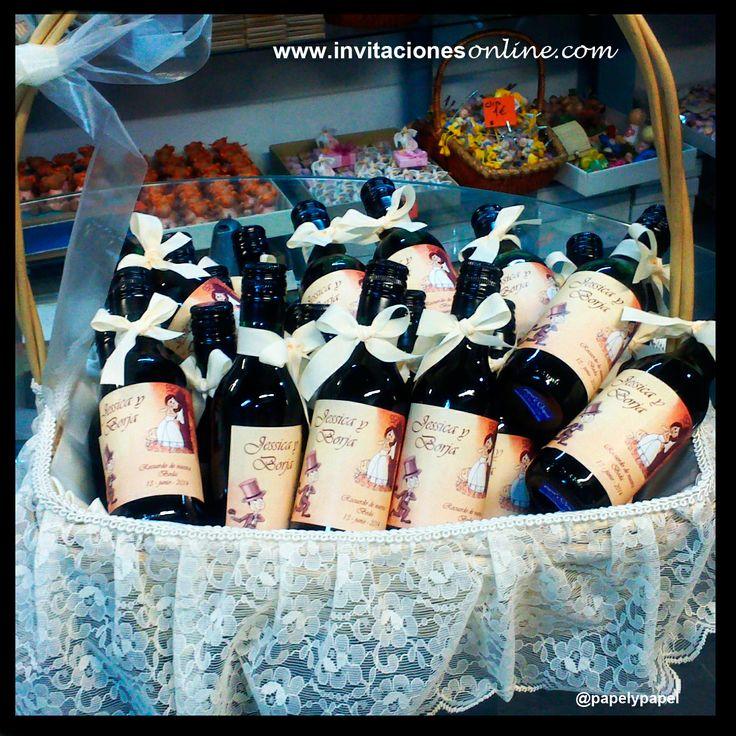 detalles de boda, botellas de vino, etiquetas personalizadas vino, detalls bodes Barcelona, wedding, nuvis, detalles para invitados, gifts