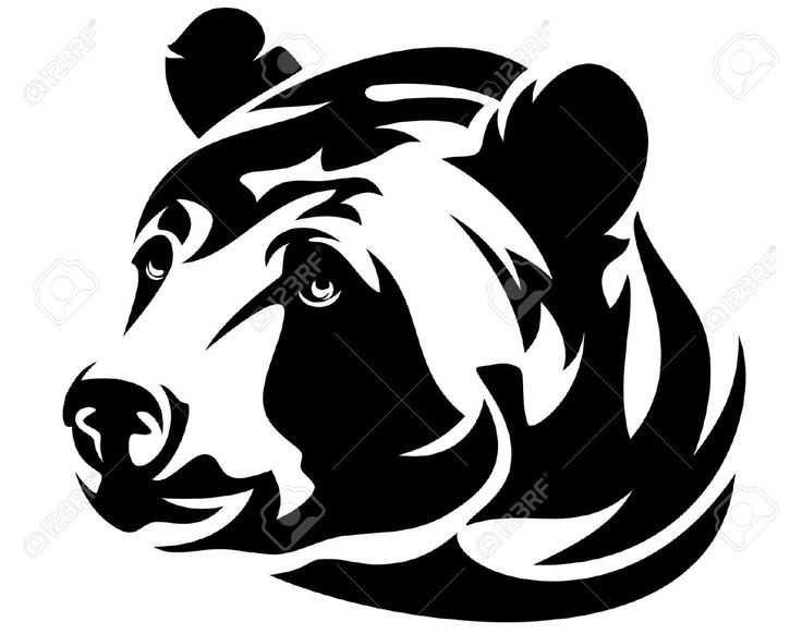 Grizzly Bear Tattoo Vector - grizzly cliparts stock vector and ...