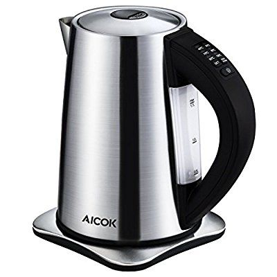 Aicok Electric Kettle Professinal Cordless Kettle 6 Temperature Control Kettle, Brushed Stainless Steel Water Kettle, BPA FREE, 1.7L, 2200W