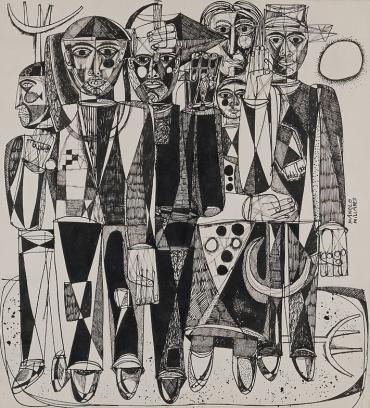 Campesinos, de Manolo Millares