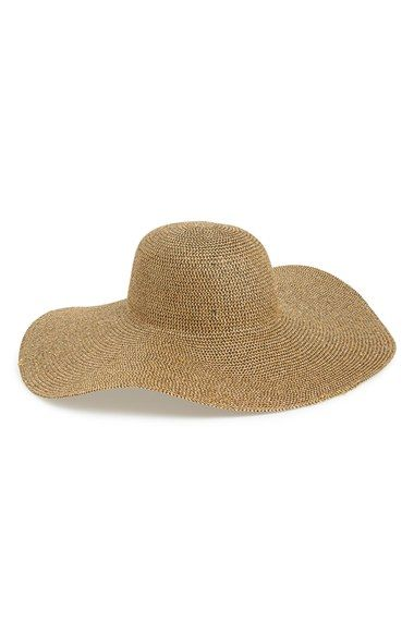 Tildon Metallic Floppy Straw Hat! Metallic thread to add shimmer to the normal dull hat +#Nordstrom