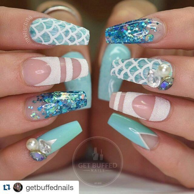 Gorgeous mermaid nails - The 18 Best NAILS - Mermaid Images On Pinterest Nail Scissors