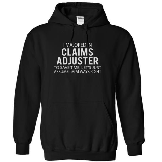 CLAIMS ADJUSTER - JobTitle - #homemade gift #bridesmaid gift. ORDER HERE => https://www.sunfrog.com/LifeStyle/CLAIMS-ADJUSTER--JobTitle-7428-Black-5982141-Hoodie.html?id=60505