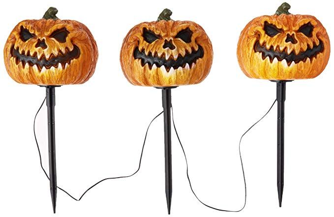 Amazon Com Set Of 3 16 Halloween Lighted Evil Jack Pathway Markers Toys Games In 2020 Halloween Lights Halloween Store Halloween
