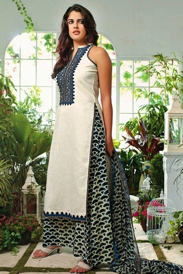 Ganga Cotton Straight Salwar Kameez. G3510