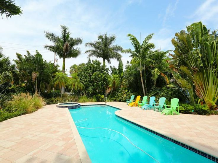 Relax by the pool at Cherryfish on Anna Maria #Pool #AMI