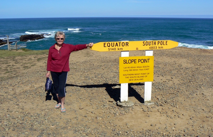 Slope Point is the most southerly point of New Zealand's South Island. Located just south of Waikawa#greatwalker