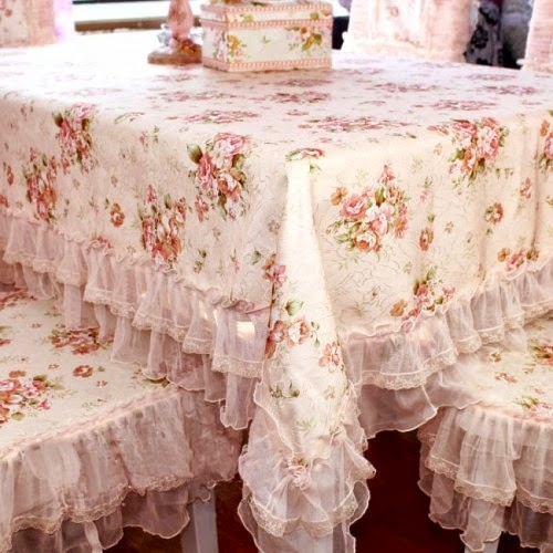 Rose Tablecloth And Those Sweet Matching Chair Covers