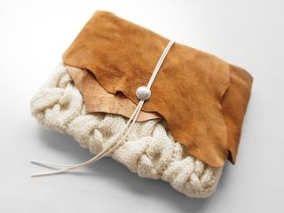 クラッチバッグ - Beyond the reef ビヨンドザリーフの、完全ハンドメイドのオンリーワンなニットクラッチバッグ