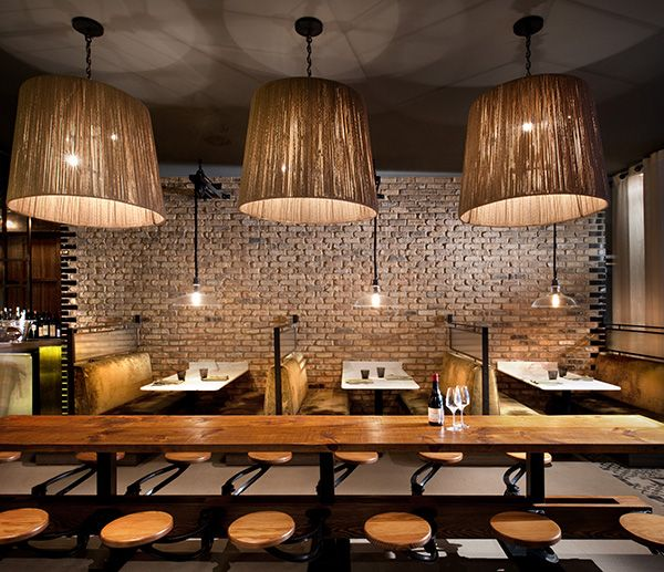 Best restaurant interiors images on pinterest