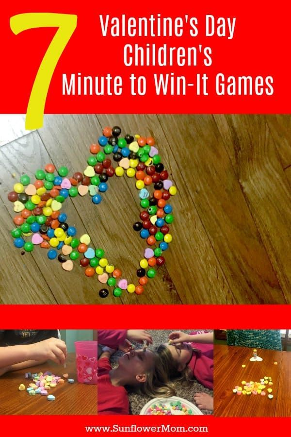 What child doesn't love to play Valentine's Day Minute to Win It games? Here are 7 of the best to play with your children - over and over!