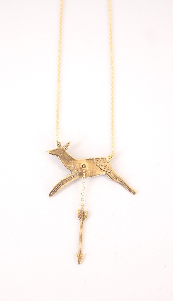 Hart + Hunt Necklace.....really funny, a lady at the ymca thought it was ironic that my married name is hirsch which somewhere along the lines stands for hart or deer and my maiden name is hunt.....i should have this