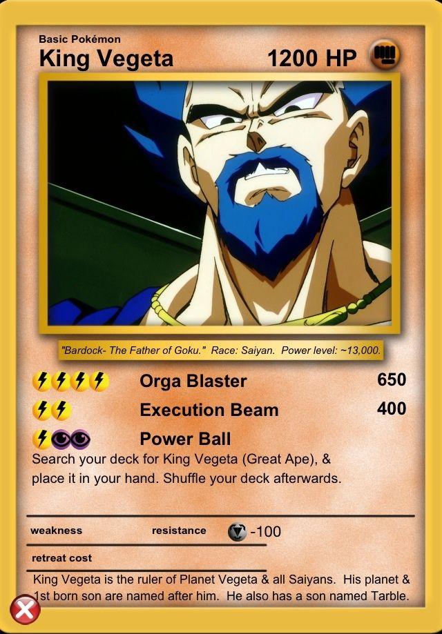 King vegeta my dragon ball z cards pre dragon ball dragon ball dragon ball z dragon - Carte pokemon dragon ...