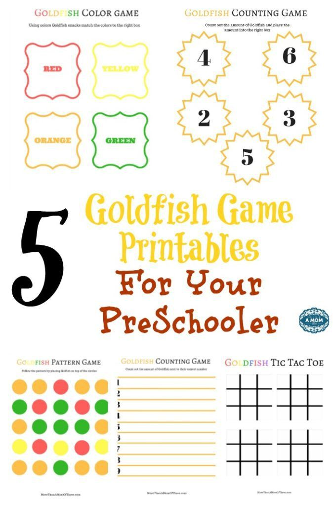 Fun pre-school learning activity printables using Goldfish crackers ...
