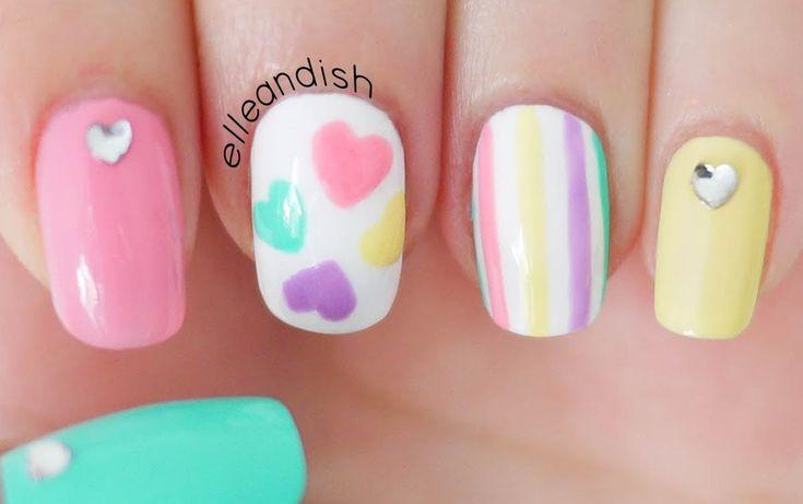 Diseño de uñas románticas en tonos pastel | Decoración de Uñas - Manicura y Nail Art