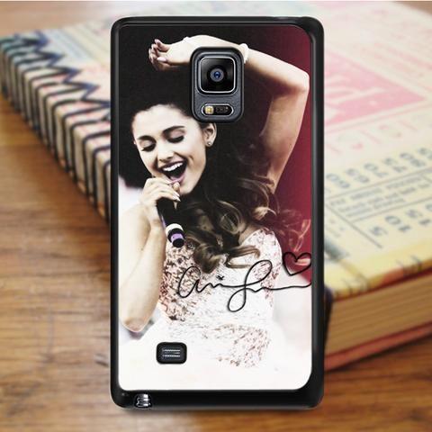 Ariana Grande Singer Red Pink Samsung Galaxy Note Edge Case
