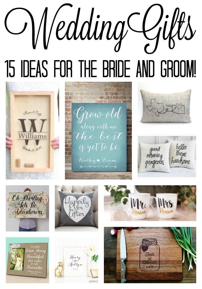 wedding gift ideas for the bride and groom! Perfect for bridal showers ...