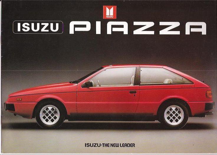 Isuzu Piazza Original Sales Brochure **RARE**