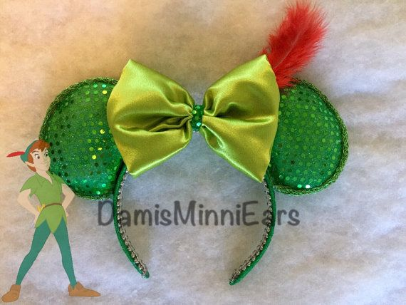 Hey, I found this really awesome Etsy listing at https://www.etsy.com/listing/257284830/disney-inspired-peter-pan-minnie-ears