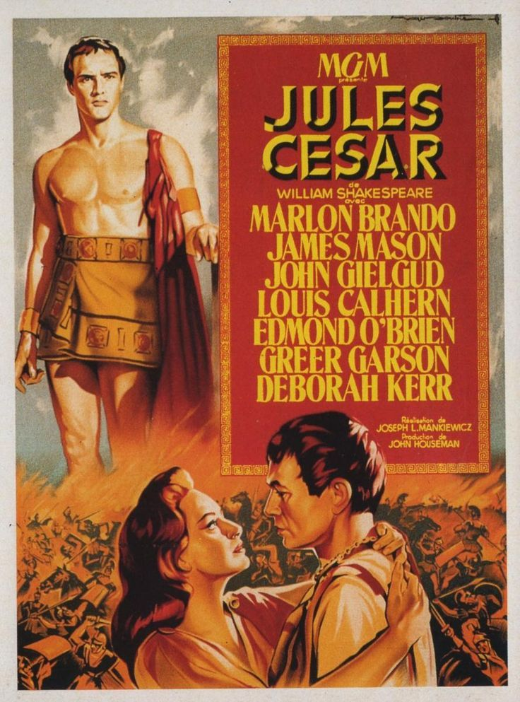 compare play and movie on julius ceasar Julius caesar a great roman julius caesar is not the main character of the play that bears his name brutus has over four times as many lines, and the play.