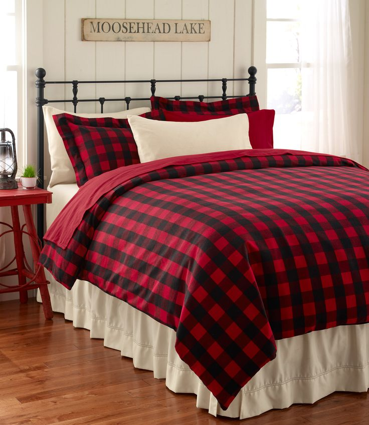 Ultrasoft Flannel Comforter Cover, Buffalo Plaid: Bedding | Free Shipping at L.L.Bean