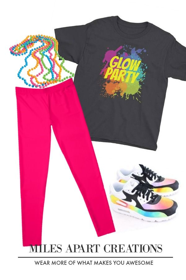 Miles Apart Creations Glow Party Youth Short Sleeve T Shirt