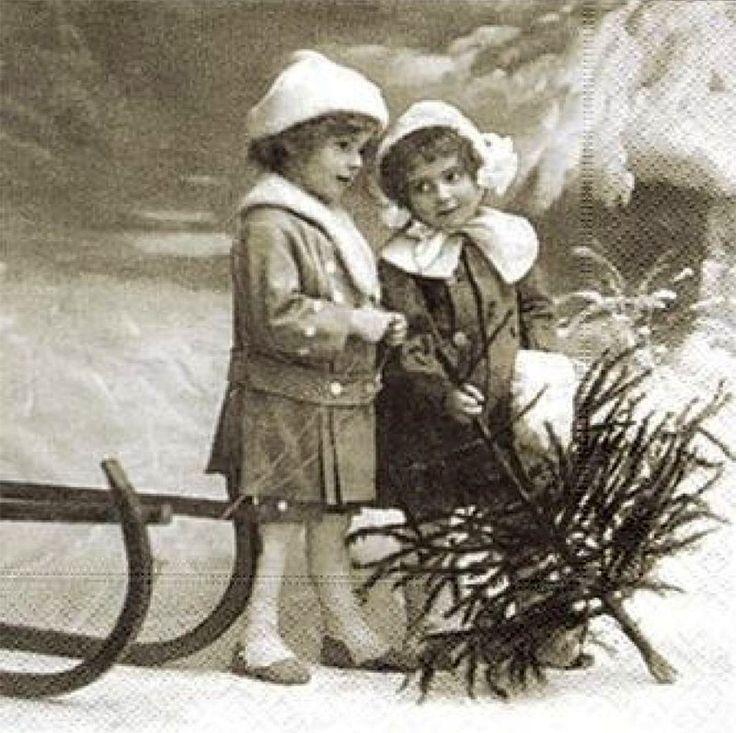 Новогодние картинки черно-белые для декупажа, цена открытки
