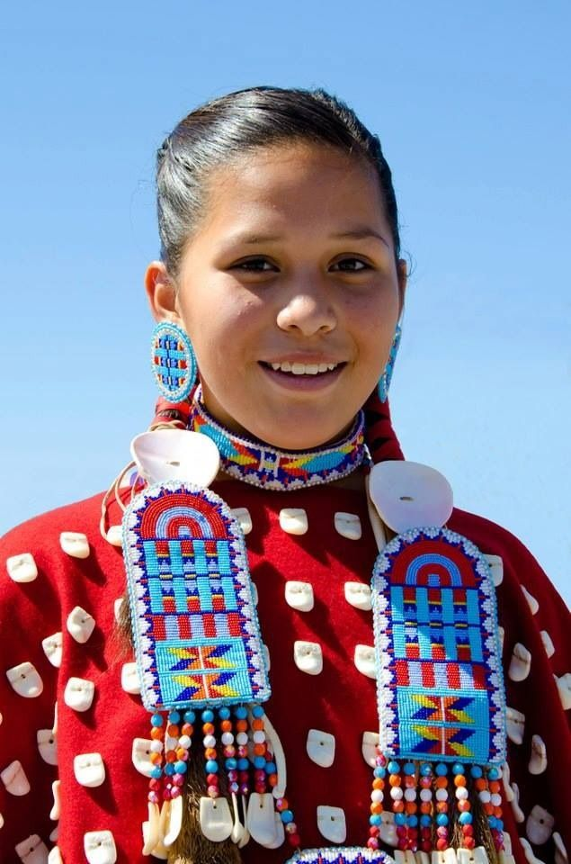 beautiful native american girl in full regalia native
