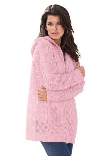 Roamans Women`s Plus Size Fabulous Thermal Hoodie - List price: $61.56 Price: $46.56