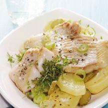 Rotbarschfilet mit Kartoffelsalat