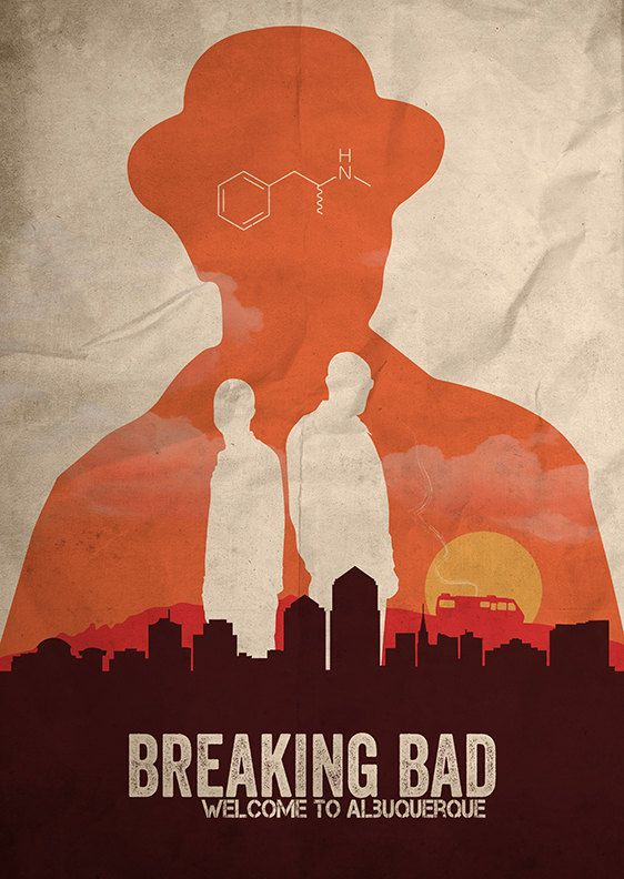 Breaking Bad affiche par FlickGeek sur Etsy                                                                                                                                                                                 Plus