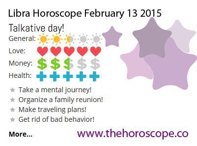 Talkative day for #Libra on Feb 13th #horoscope ... http://www.thehoroscope.co/horoscope/Libra-Horoscope-today-February-13-2015-2230.html