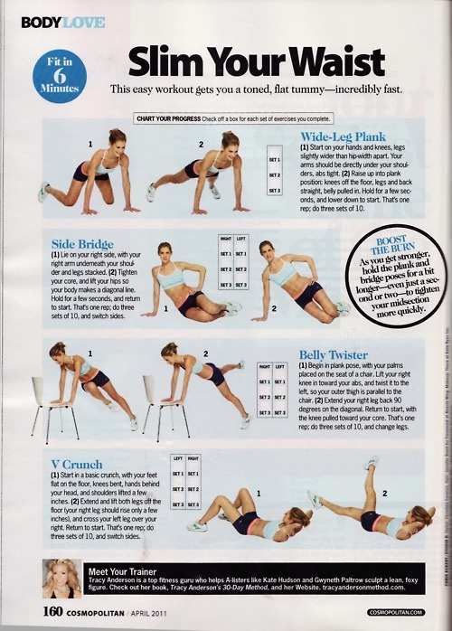 Goal : 22-inch waistline   Easy workouts, Exercise, Health fitness
