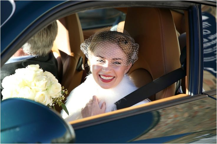 bridcage veil on beautiful 50's bride at cambridge wedding, natural fun wedding photography by Rebecca Prigmore