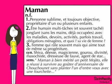 Définition Maman humour (sixinthecity)