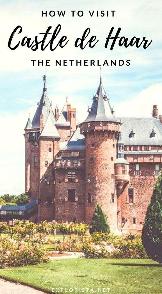 An easy day trip from Amsterdam, Castle de Haar (Kasteel de haar) has to be the prettiest castle in the Netherlands! Read for all the tips on visiting. #castledehaar #dutchtravelb
