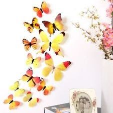 3D Butterfly Wall Sticker Kids Room Art Sticker Fridge Home Decors