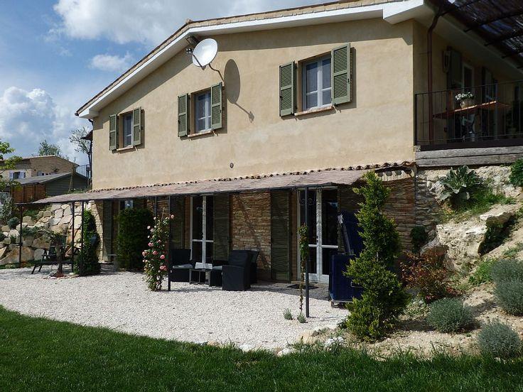 Affitto casa di campagna Petritoli - Casa per gli ospiti lato sud, terrazza Sibillini e Petritoli