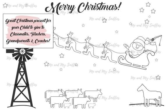 - Pin On Australian Christmas Colouring In Sheets