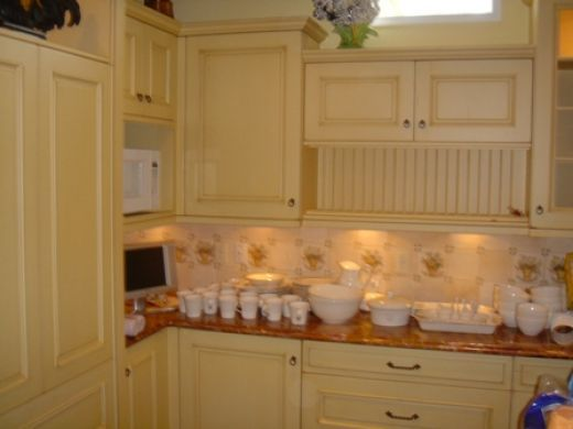 1000 ideas about cream colored kitchens on pinterest for Buttercream kitchen cabinets