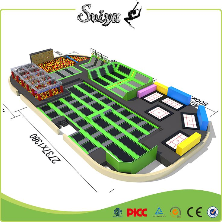 Xiaofeixia China Wholesale Market Large Professional Trampoline Park With Dodge Ball And Basketball Hoops