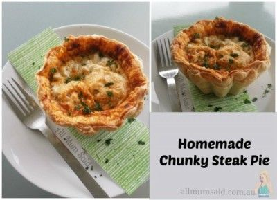 If you enjoy delicious homemade tender steak pie than you will want to print this recipe out to try later! It is my own personal recipe that I whipped up one day when we had a whole lot of nothing left in the fridge. I can vouch this will become a favourit