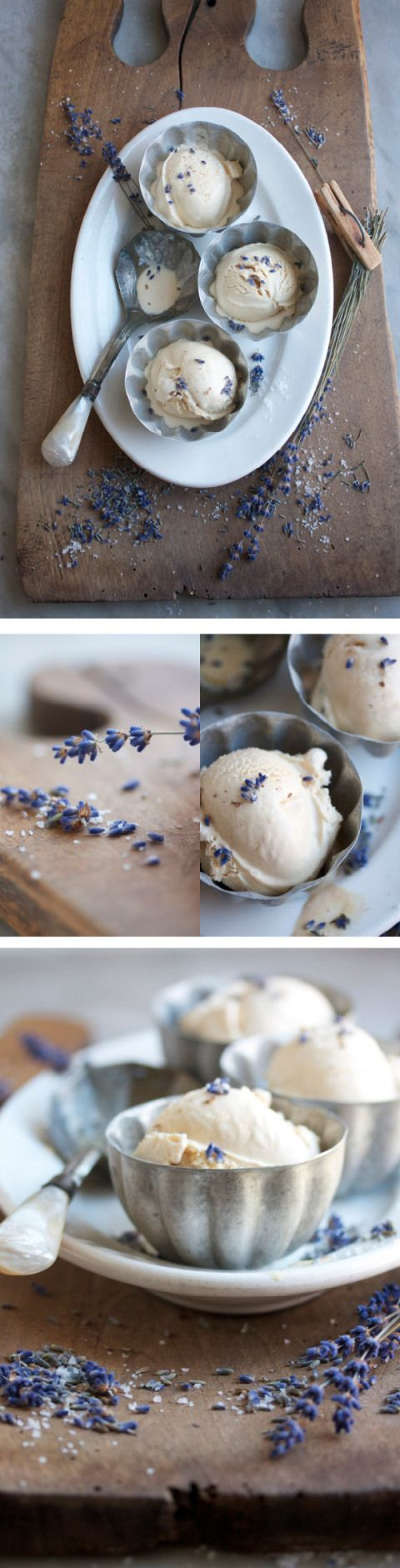 salted caramel and lavender ice cream (with chunks of lavender shortbread). no recipe, but could probably figure it out.