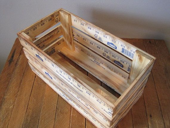 ruler crate / vintage inspired ruler crate by FORTRESSco on Etsy, $24.00
