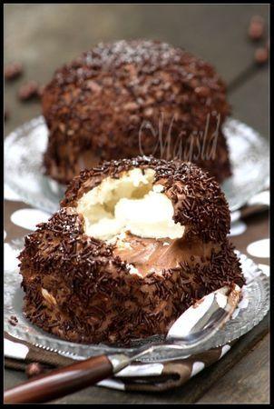 """""""Tête"""" chocolatée à la meringue."""