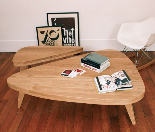 Table basse vintage esprit scandinave Hansen Family, Sentou edition