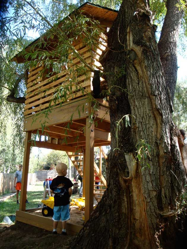 Cool Ideas For Outdoor Forts. Custom Made Play Houses Twin Chalets on