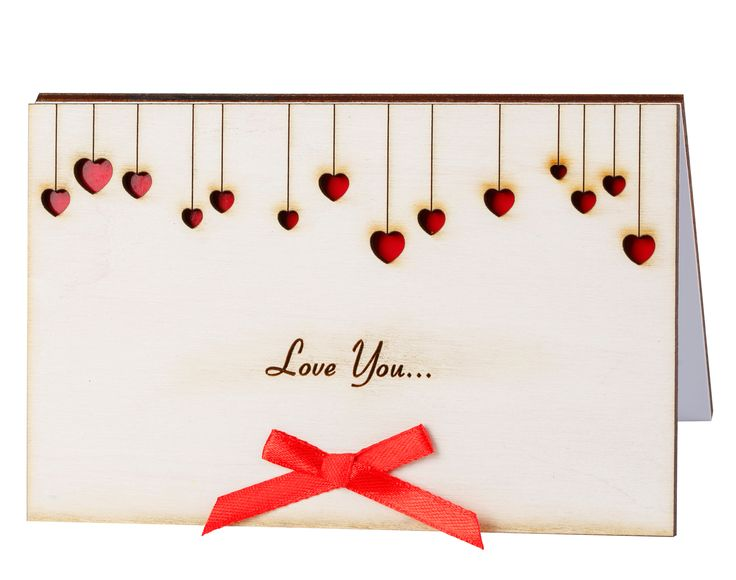 Wood Cards 10 handpicked ideas to discover in Products – Valentine Cards for Her