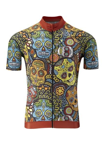 The first of many in WyndyMilla's new 'Collaborations Range'. These award winning Mexican Candy Skulls are designed by Lusy Koror. Lusy recently won the Spoonflower.com competition for her Mexican Candy Skull fabric design. Unisex 'classic' fit to suit all shapes and sizes. Great match for our 'Classic Black Shorts' and our black or white 'Enjoy Life -Go Cycling' socks.